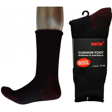 3 Pairs Heavy Duty Wool Work Socks