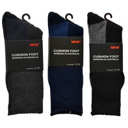 3 Pairs Cotton Work Socks 2