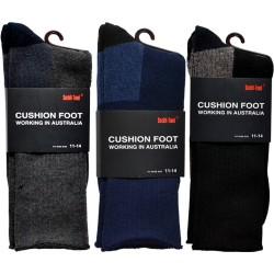 3 Pairs King Size Cotton Work Socks