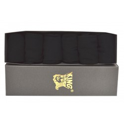 6 Pairs Black Business Socks Box Packed